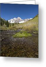 Mountain Co Maroon Bells 20 Greeting Card
