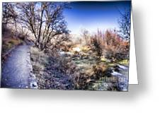 Mountain Creek Path-sundance Utah Greeting Card