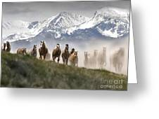 Mountain Dust Storm Greeting Card
