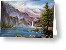 Mountain Falls Greeting Card