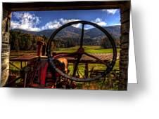 Mountain Farm View Greeting Card
