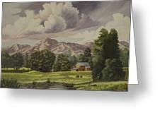 Mountain Farm Greeting Card