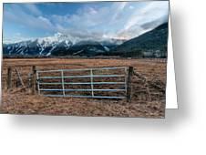 Mountain Farmers Greeting Card
