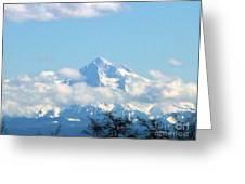 Mountain Fluff Greeting Card