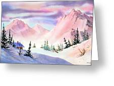 Mountain Glow Greeting Card