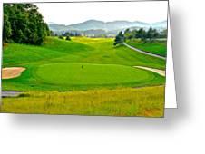 Mountain Golf Greeting Card