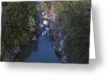 Mountain Gorge Greeting Card