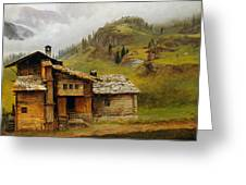 Mountain House  Greeting Card by Albert Bierstadt