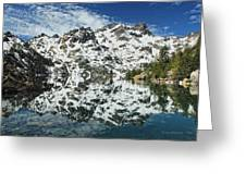Mountain In The Mirror Greeting Card
