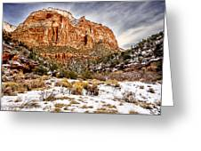 Mountain In Winter Greeting Card