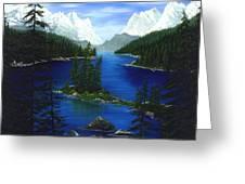 Mountain Lake Canada Greeting Card