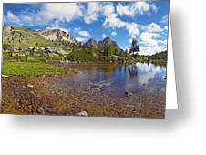 Mountain Lake In The Dolomites Greeting Card