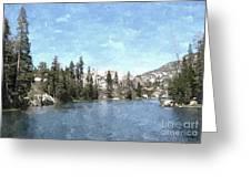 Mountain Lake Retreat Greeting Card