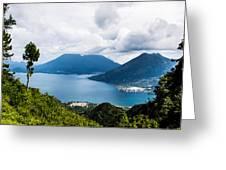 Mountain Lakes In Guatemala Greeting Card