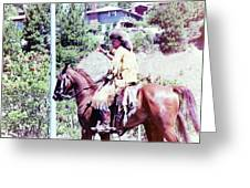Mountain Man On A Horse Greeting Card