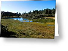 Mountain Marshes 1 Greeting Card