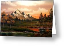 Mountain Meadow Dusk Greeting Card