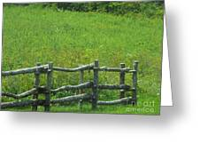 Mountain Meadow New York Hwy 30 Greeting Card