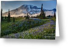 Mountain Meadow Serenity Greeting Card