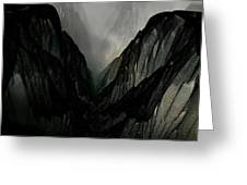 Mountain Mist And Fog Greeting Card