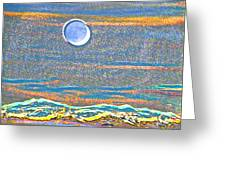 Mountain Moonrise 2 Greeting Card