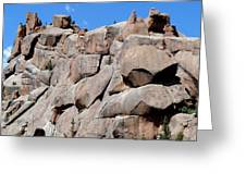Mountain Of Boulders Greeting Card