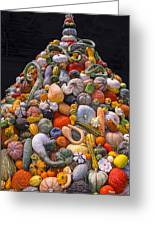 Mountain Of Gourds And Pumpkins Greeting Card