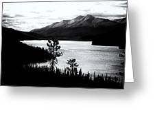 Mountain Outline Greeting Card