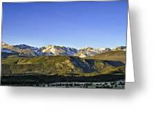 Mountain Panorama Greeting Card by Tom Wilbert