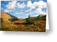 Mountain Pastoral. Rest And Be Thankful. Scotland Greeting Card