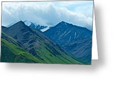 Mountain Peaks From Eielson Visitor's Center In Denali Np-ak Greeting Card
