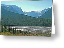 Mountain Peaks From Icefields Parkway-alberta Greeting Card