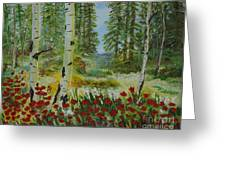 Mountain Poppies Greeting Card