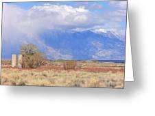 Mountain Rain Greeting Card