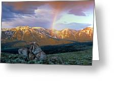 Mountain Rainbow Greeting Card
