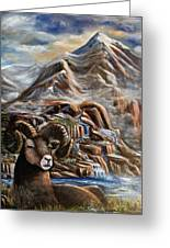 Mountain Ram Greeting Card
