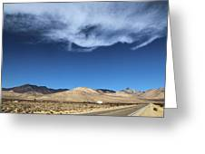 Mountain Range Of Sierra Nevada Greeting Card