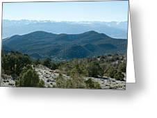 Mountain Range, White Mountains Greeting Card