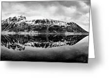 Mountain Reflection Greeting Card by Dave Bowman