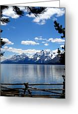 Mountain Reflection On Jenny Lake Greeting Card by Dan Sproul