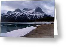 Mountain Reservoir Greeting Card