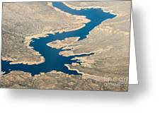 Mountain River From The Air Greeting Card