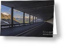 Mountain Road And Tunnel Greeting Card