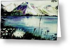 Mountain Serenity Greeting Card