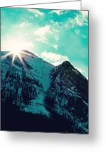 Mountain Starburst Greeting Card by Kim Fearheiley