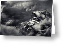 Mountain Storm Banff Greeting Card