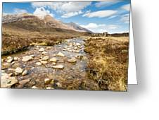 Mountain Stream From Beinn Eighe Greeting Card