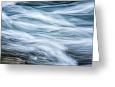 Mountain Stream In Motion E101 Greeting Card