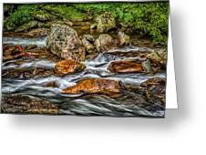 Mountain Stream Rushing After Heavy Rain E134 Greeting Card