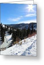 Mountain Sun Greeting Card